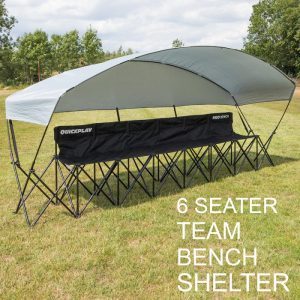 Team Bench Fold Out 6 seater with shade awning